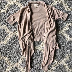 [Michael Kors] Cream Open Knit Cardigan - Size P